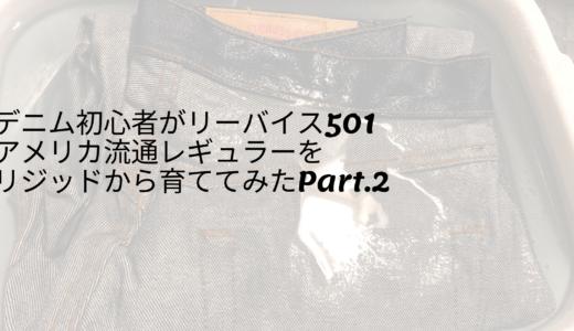 デニム初心者がリーバイス501アメリカ流通レギュラーを育ててみたPart.2